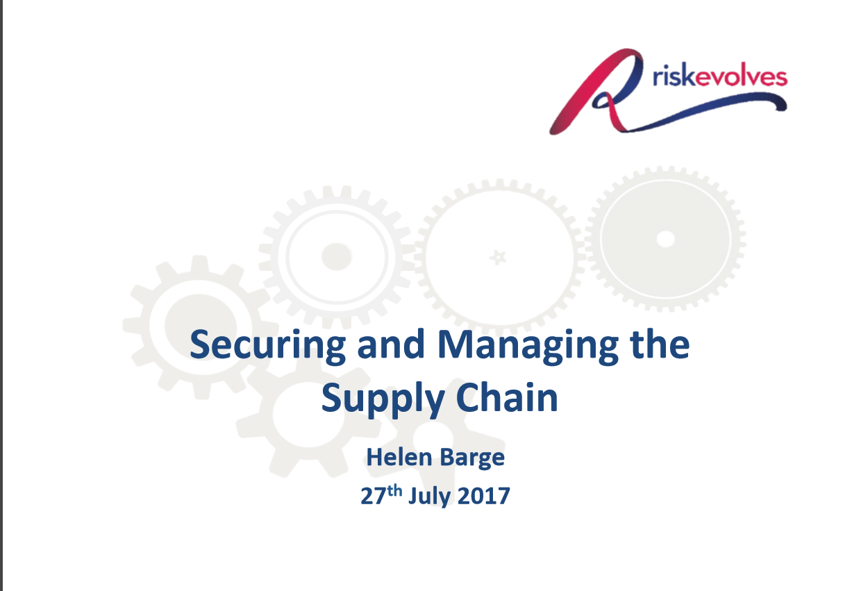 Managing Risk in The Supply Chain