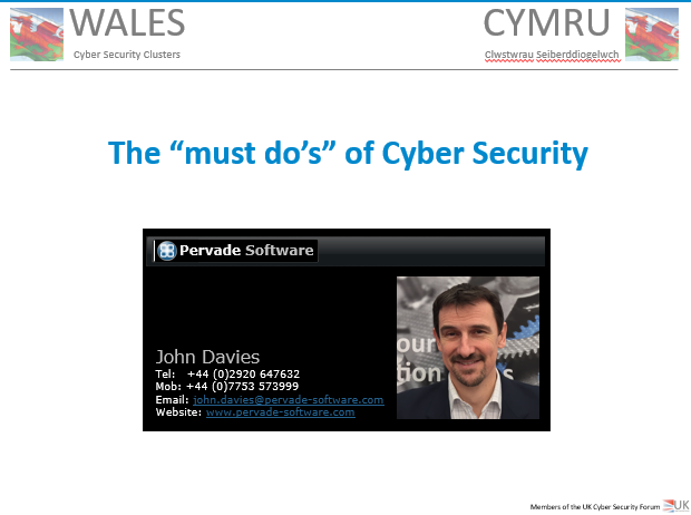 Must Dos of Cyber Security
