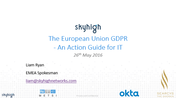 The European Union GDPR- An Action Guide for IT