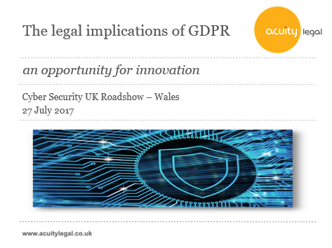 The legal implications of GDPR.