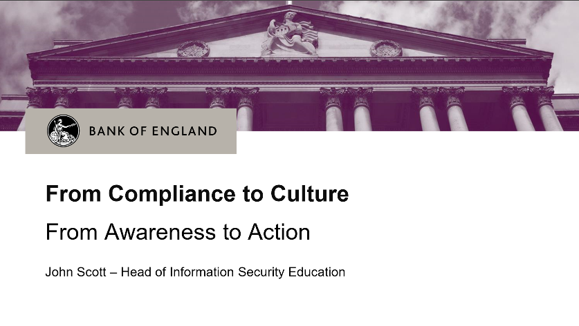 Bank of England From Compliance to Culture