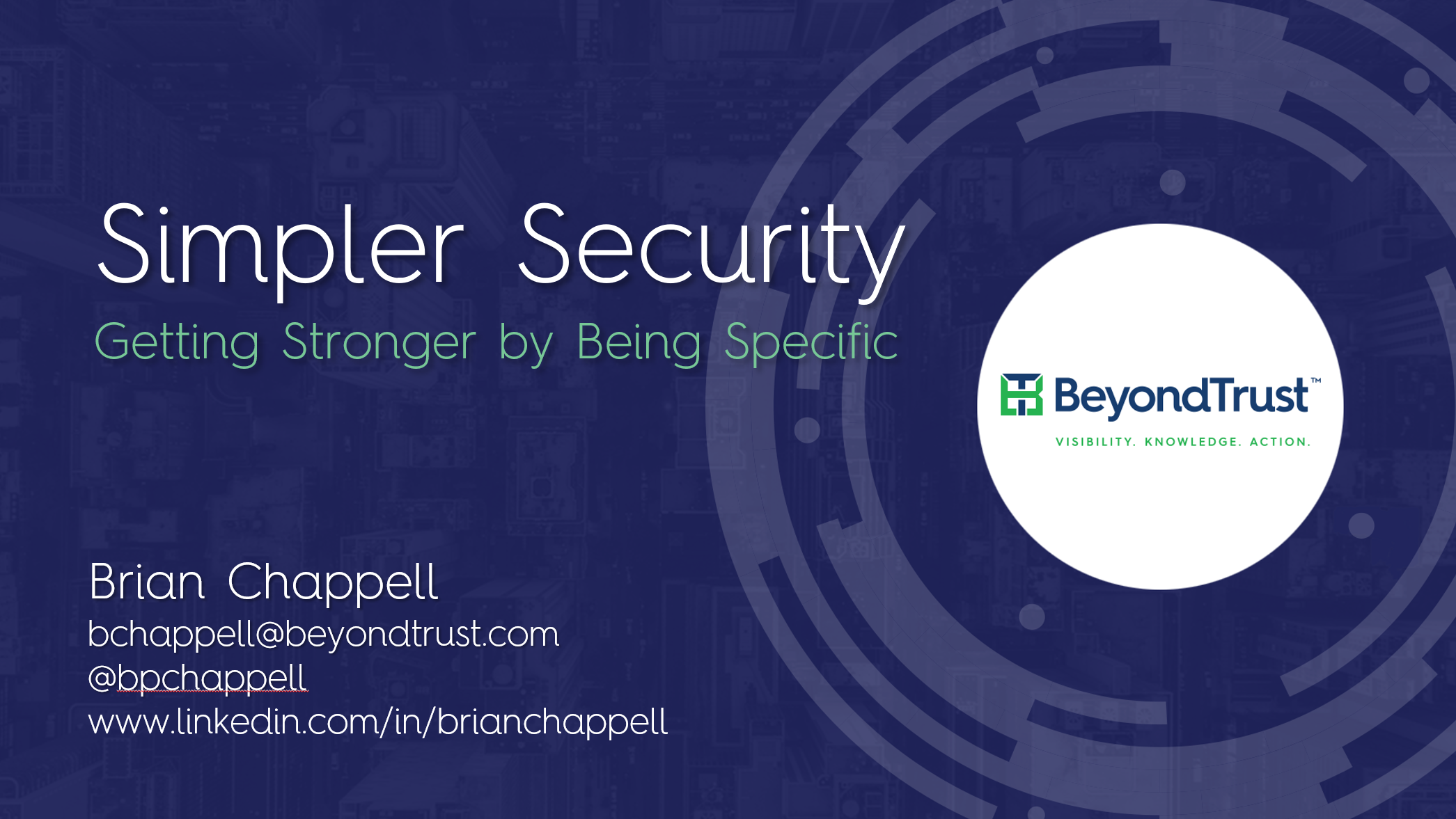 Beyond Trust  Simpler Security by Brian Chappell