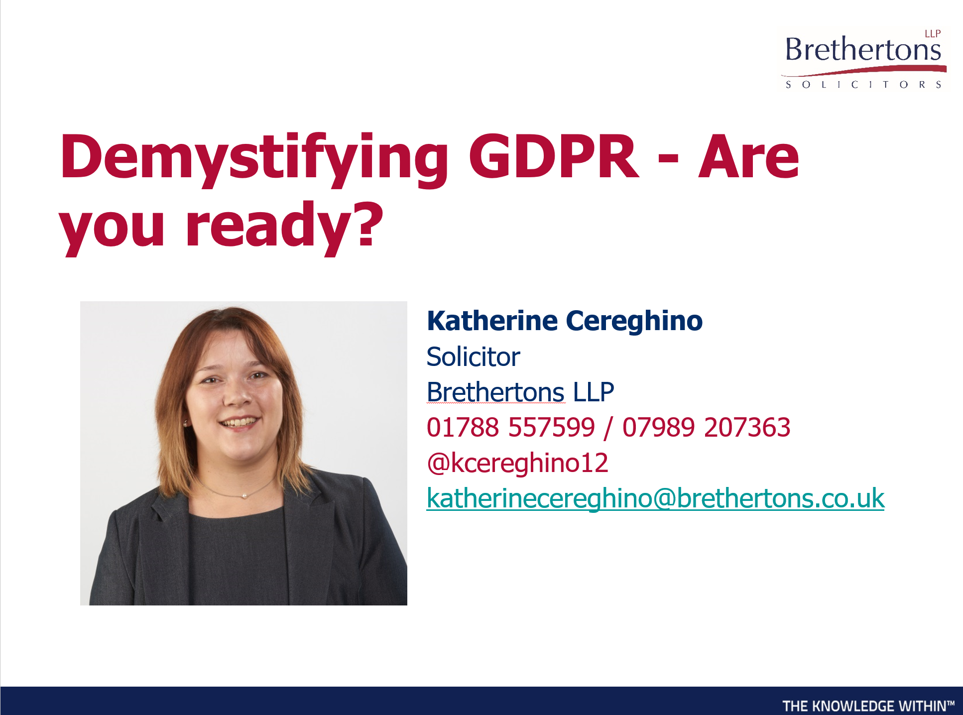 Cybersecurity GDPR  by Katherine Cereghino
