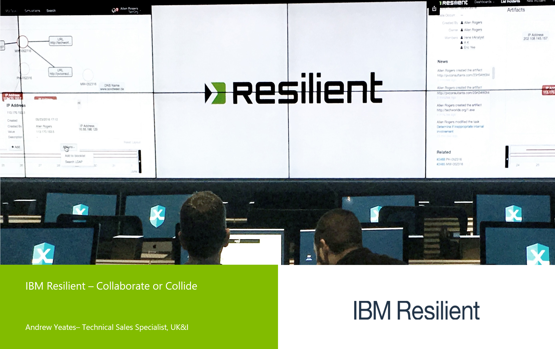 IBM Resilient Collaborate or Collide by Andrew Yea